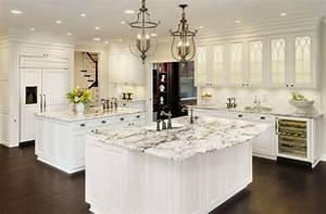 Kitchen Cabinets White Countertop And Backsplash Designs