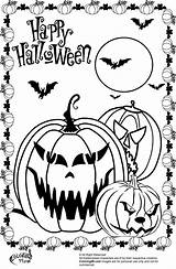 Halloween Coloring Scary Pages Pumpkin Pumpkins Colors Given Celebrate Special sketch template