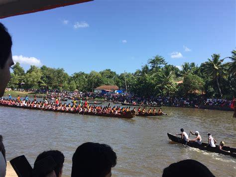 Snake Boat Race In Kerala by Boats Leaving For The Trial Payipad Haripad Snake Boat
