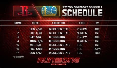 nba playoffs western conference semifinals schedule