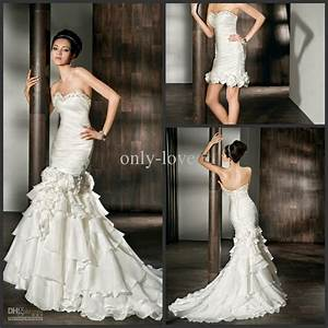 plus size two piece wedding gown mermaid wedding gowns With plus size 2 piece wedding dresses