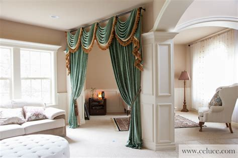 green chenille swag valance curtains  celucecom