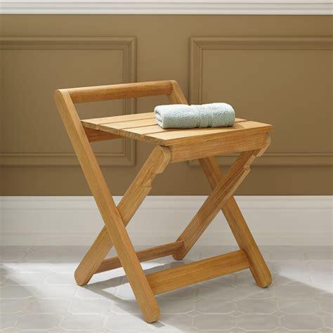 dhara teak folding shower stool bathroom