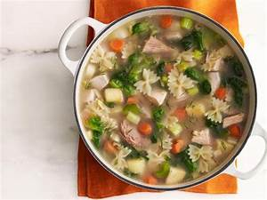 Turkey-Escarole Soup with Farfalline Recipe | Food Network ...