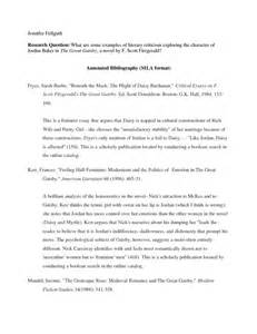 Annotated Bibliography Example MLA Format Template