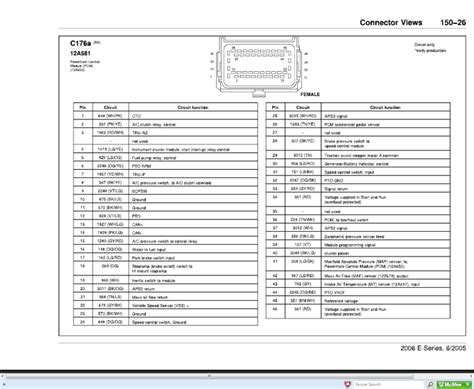2006 Ford Duty Pcm Wiring Diagram by I Need The Pinout For Ecm On A 2006 Ford E350 With 6 0 Diesel