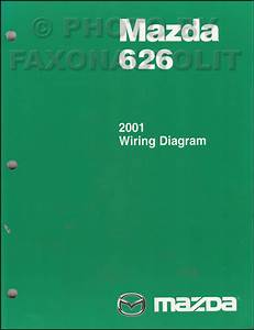 2001 Mazda 626 Repair Shop Manual Original