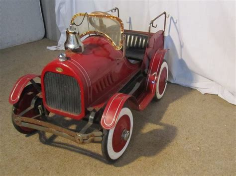 Vintage Classic Toy Fire Truck Pedal Car