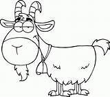 Coloring Goat Printable sketch template