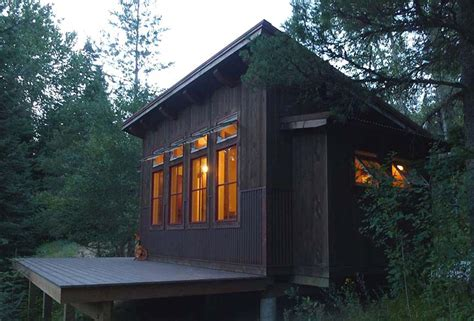 built  shed roof cabin     customers property shed roof cabin shed roof