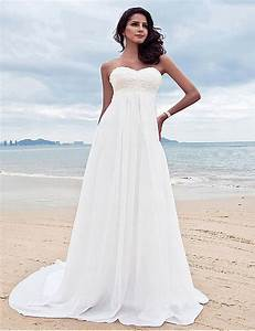 2016 chiffon empire wedding dresses with appliques sweep With chiffon bridesmaid dresses for beach wedding