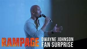 'Rampage' Dwayne Johnson Fan Surprise - YouTube