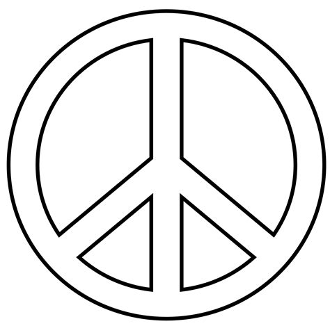 Peace Clipart Peace Sign Clip Black And White Free Clipart