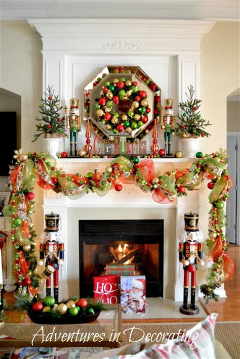 adventures  decorating  christmas mantel  deck