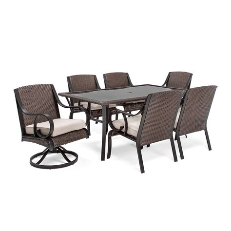 la z boy outdoor 7 pc dining set sand outdoor