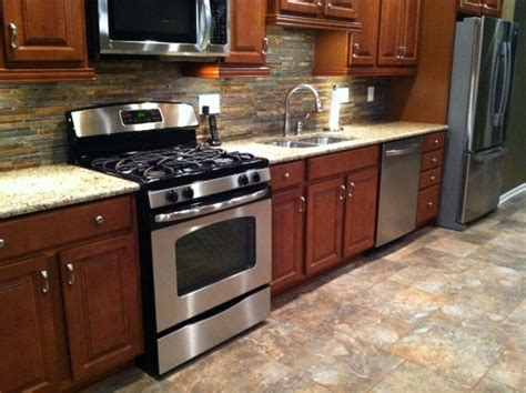 wood kitchen cabinets with wood floors new kitchen with merrillat cherry stained maple wood 9948