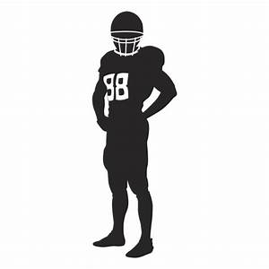 Rugby player standing silhouette - Transparent PNG & SVG ...