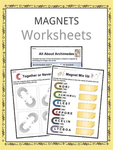 magnet facts worksheets information  kids