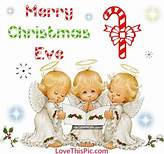 cute merry christmas eve quote with baby angels pictures - Merry Christmas Eve Quotes