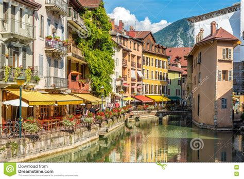 In The Streets Of Annecy France Editorial Photo Image
