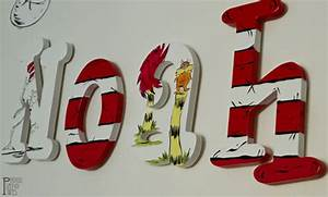 items similar to dr seuss hand painted custom wood wall With dr seuss letters for the wall