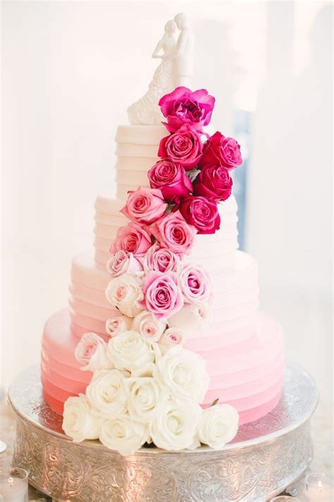 Best 25 Pink Wedding Cakes Ideas On Pinterest Pink Big