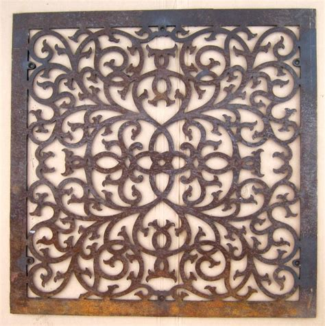 large antique floor grate cold air return register 32 5 x