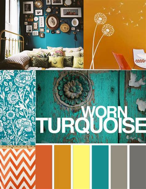 Orange Grey And Turquoise Living Room by Turquoise And Orange Room Color Scheme For The Home