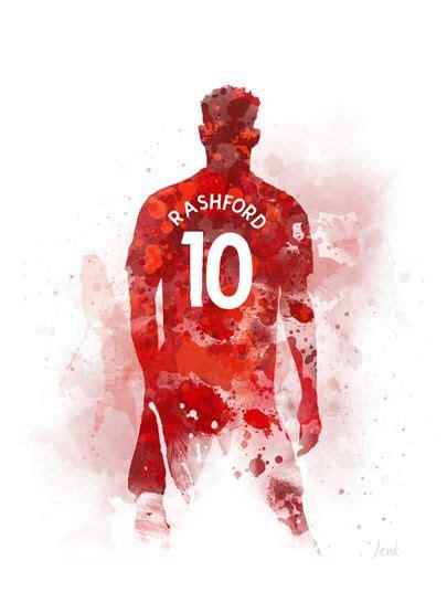 Marcus Rashford ART PRINT Manchester United, Football ...