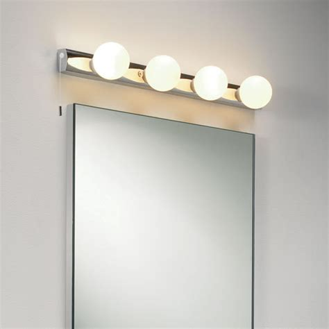 cabaret bathroom wall light 4 globe lights on a chrome