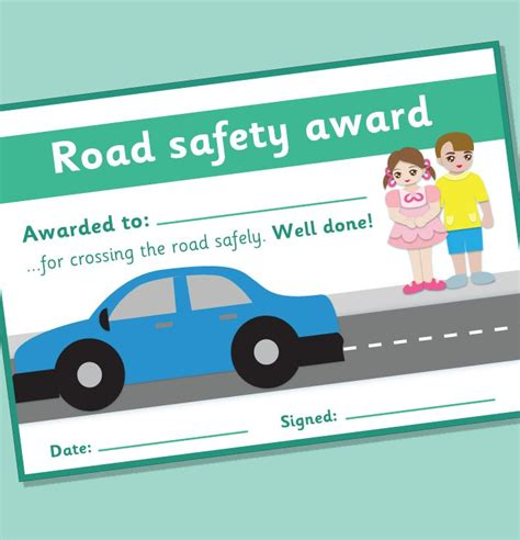 road safety certificate road safety theme 123 | ea316cda9b79494b4af8008b4a31a6b0 road safety activities preschool pedestrian