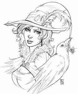 Pretty Halloween Witch Coloring Pages Coloring Pages