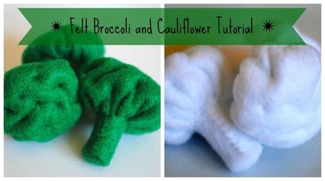 felt play food broccoli  cauliflower tutorial felt