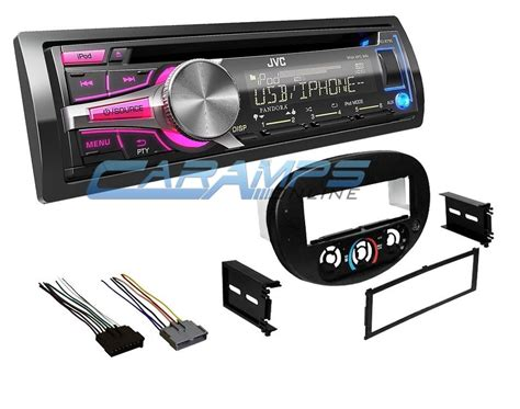new jvc car stereo radio cd player receiver w mounting trim kit wiring harness ebay
