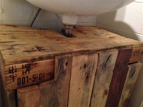 bathroom cabinet cupboard  sink  pallet timber