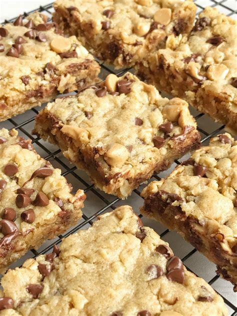 oatmeal chocolate chip peanut butter bars   family