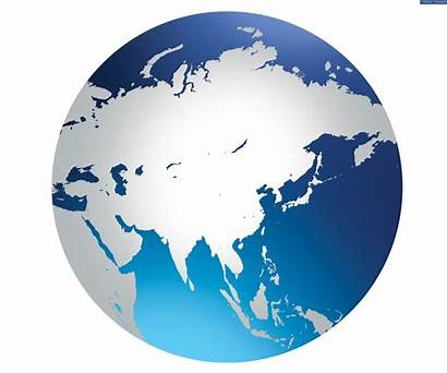 Globe Asia Background Icon Map Global Clipart