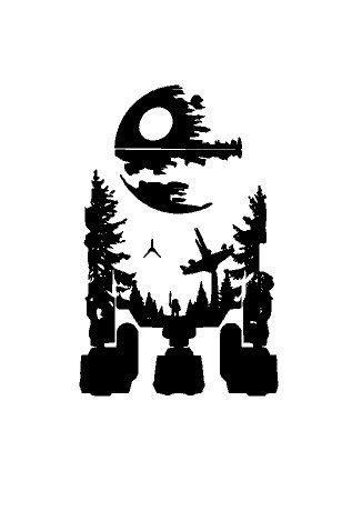Star Wars Mashup Vinyl Decal Sticker | Nerdom | Star wars