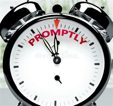 Promptly stock illustration. Illustration of instantly ...