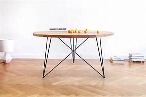 Table Ronde En Chene : table ronde en ch ne massif berlin sur mesure for me lab ~ Teatrodelosmanantiales.com Idées de Décoration