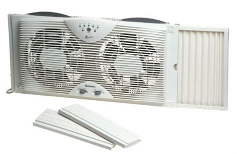 holmes twin window fan with washable filter holmes dual blade twin window fan with one touch thermostat