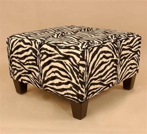 Zebra Ottoman Walmart - zebra print ottoman 404183 overstock