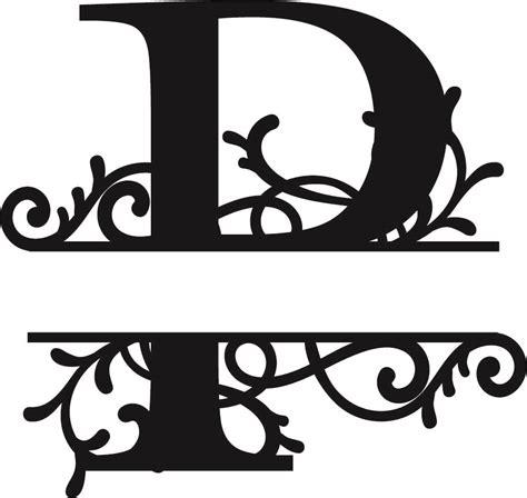 split monogram letter p dxf file   axisco