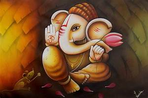 Oil Painting Of Ganesha | www.pixshark.com - Images ...