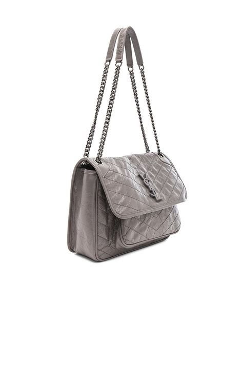 lyst saint laurent medium niki monogramme chain bag