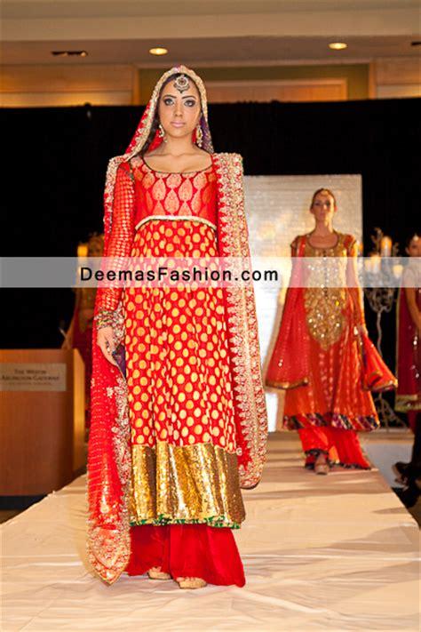latest pakistani fashion  red formal bridal dress