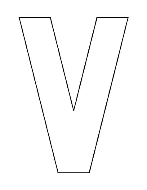vs template letter v pattern use the printable outline for crafts creating stencils scrapbooking and