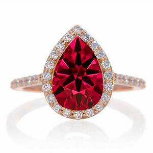 2 carat princess cut ruby and diamond wedding ring set on With ruby wedding ring