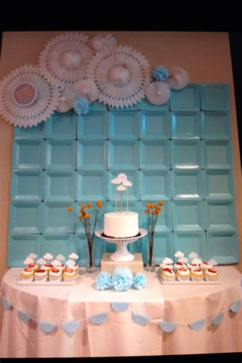 decorations for a baby shower wall decor backdrop at a shower for a baby boy using