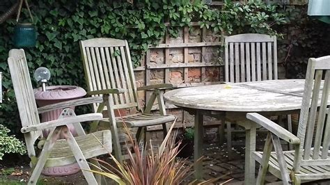 teak garden table chairs east molesey surrey